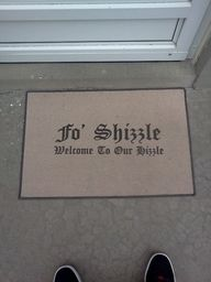 Haha, great doormat