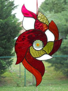 Stained Glass Red Nautical Suncatcher. $25.00, via Etsy.