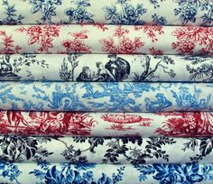 """The gorgeous French florals & toiles from the """"Wellington"""" collection by Nancy Gere for Windham Fabrics."""