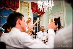 Champagne toasts after the speeches at Chandos House in London