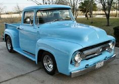 1955 Ford truck - what I want to buy for Rose Rose Rose Rohde someday. Vintage Pickup Trucks, Old Ford Trucks, Vintage Cars, Hot Rod Trucks, Cool Trucks, Cool Cars, Classic Trucks, Classic Cars, Classic Style