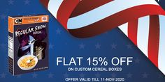 Order now and get 15% discount on your custom cereal boxes in remembrance of veterans day. Book your order at 888-851-0765 or get a free custom quote.