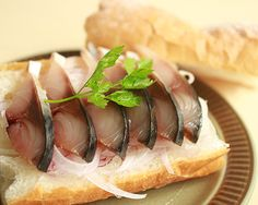 North European cold-smoked mackerel 北欧 冷燻さば--new use other than oshi-zushi!