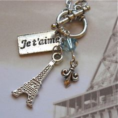 $17.00.  OMG I love this necklace!!  WE LOVE PARIS http://www.etsy.com/listing/165812465/we-love-paris?ref=shop_home_active