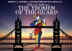 Draft poster design by Adam Dechanel for 'The Yeomen of the Guard', Lion & Unicorn Theatre, London - 2015
