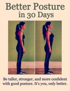 How to get better posture in 30 days with step-by-step daily regiment of 5 minute exercises. Guaranteed improved results.