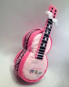 Guitar Diaper cake #BabyShower #GiftIdeas BabyFavorsAndGifts.com