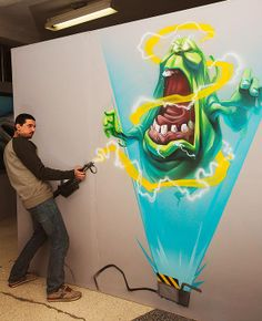 #3D exhibition: interactive and fun paintings by Brain Mash l #painting #graffiti