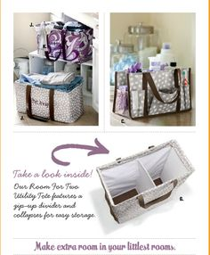 NEW for 2013! Thirty-One's ROOM FOR TWO TOTE!    As seen on the new 2013 Spring Catalog Cover    www.mythirtyone.com/cindylyn31gifts
