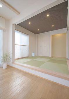 Japanese Home Design, Japanese Style House, Japanese Home Decor, Japan Room, Washitsu, Tatami Room, Japanese Interior Design, Style Japonais, Basement House