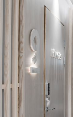 Numbers and names of the room are made of ceramic slabs. They were cut in ABL-Laatat Cut Studio out of Florim Stone Marble Calacatta Velvet. Calacatta, Carrara, Helsinki, Numbers, Marble, Hotels, Velvet, Ceramics, Boutique