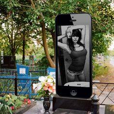Nagrobek dziewczyny z Rosji - iPhone #nagrobek #dziewczyny #rosji #iphone