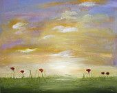 Abstract landcape painting modern art textured and brush painting Marems made to order number 25