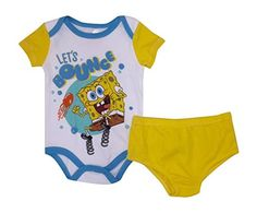 Nickelodeon Spongebob Lets Bounce Baby Bodysuit Diaper Set 69 months >>> You can find out more details at the link of the image.Note:It is affiliate link to Amazon.