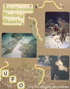 Aquarium Scrapbook Layout 7 Left