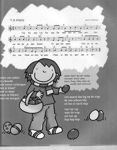Pasen, muziek ( kinderen Easter Art, Easter Bunny, Anna, Pre School, Happy Easter, Projects To Try, Teaching, Comics, Kids