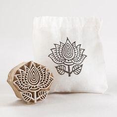 One of my favorite discoveries at WorldMarket.com: Medium Wooden Flower Stamp