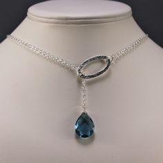 London Blue Lariat - London Blue Topaz & Sterling Silver