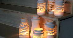 Vou lhes mostrar como fazer estes castiçais com potes de vidro e lã, uma opção bem legal para todos os que adoram fazer artesanatos para decorar o seu lar. Este é um artesanato muito simples de ser realizado e com um custo bem barato. Confira o passo a passo e comece a prepar&aacut