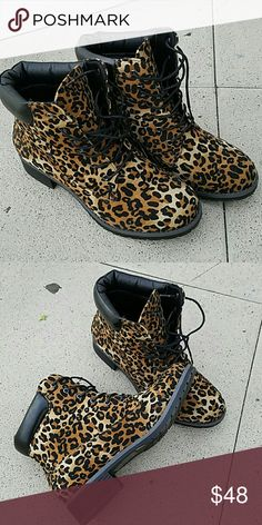 Leopard PU and Suede Booties Leopard booties just arrived! starlight footwear  Shoes Ankle Boots & Booties