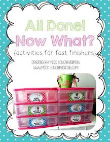 Miss Kindergarten: I'm Done Jar 2.0!