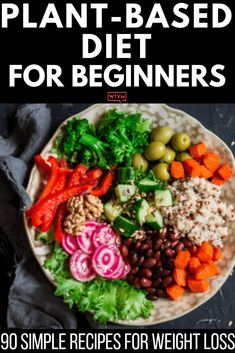 If you're looking for tips on how to start a Plant-Based Diet to lose weight or eat healthier then check out this beginner's guide to the Plant-Based Diet! You'll find grocery lists and 90 simple clean eating recipes for breakfast, lunch, and dinner! With meal planning tips for healthy eating on a budget & a list of sources of protein, you'll have everything you need to reach your weight loss & nutrition goals! #plantbased #vegan #healthy #cleaneating Easy Clean Eating Recipes, Healthy Recipes, Whole Food Recipes, Healthy Snacks, Vegetarian Recipes, Healthy Eating, Raw Diet Recipes, Vegetarian Italian, Vegan Recipes Beginner