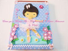 Caderno decorado - Bailarina