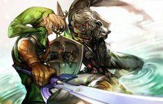 「リンク & ダークリンク」/「ジュプ」のイラスト [pixiv] Link & Dark Link | Ocarina of Time