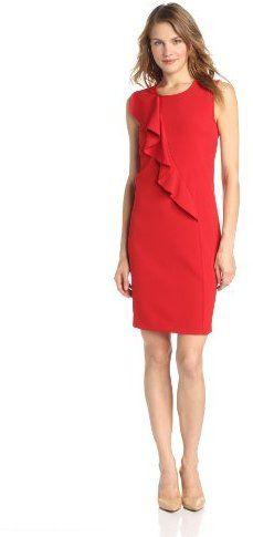 Nine West Dresses Women's Front Ruffle Shirt Dress on shopstyle.com
