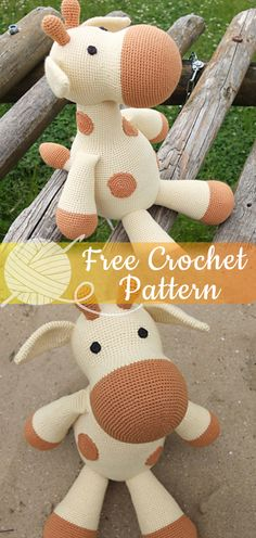 Farah Giraffe [CROCHET FREE PATTERNS] I hope you have enjoyed this beautiful crochet, the free pattern is HERE so you can make a beautiful crochet. Crochet Giraffe Pattern, Crochet Amigurumi Free Patterns, Crochet Dolls, Crochet Yarn, Knitting Projects, Crochet Projects, Sewing Projects, Crochet Ideas, Sewing Crafts