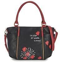 nice Desigual SEVILLA HEART women's Shoulder Bag in Black / Red