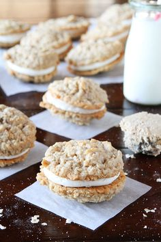 Homemade Oatmeal Buttercream Pies. This is the chewiest cookie I have ever had!!