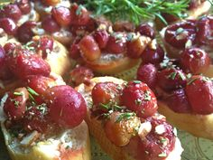 Roasted Red Grapes and Rosemary ReluctantEntertainer.com