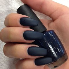 """""""When black is too black. You get dark blue matted  . OPI Colour : Incognito in Sausalito"""" Photo taken by @professionalnailss on Instagram, pinned via the InstaPin iOS App! http://www.instapinapp.com (11/04/2015)"""