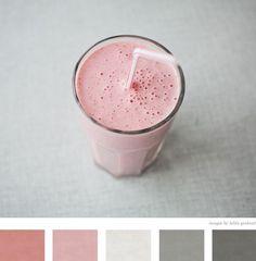 pinks and greys.
