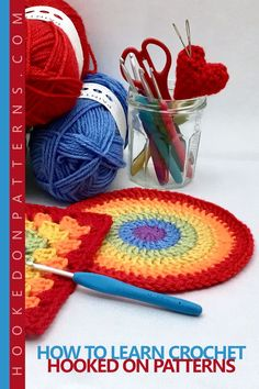 HOW TO LEARN CROCHET – A BEGINNERS GUIDE. In this guide I will cover all you'll need to know before starting and how to learn crochet. A complete beginner's how to guide, covering yarn, hooks, US vs UK crochet terms, different ways to go about learning crochet, and reading patterns. A useful guide from the Hooked On Patterns Crochet Blog!