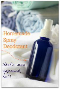 This is the best homemade spray deodorant recipe that we've tried! My husband loves it, too!