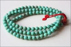 Mala Beads- turquoise/jade or wooden.