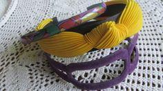 Purple Velvet Headband Yellow Chunky headband 3 Headbands NOS4 Purple Floral skinny headband   $8.00 ReVintageBoutique.Etsy.com