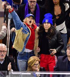 Gigi Hadid sports New York Rangers cap while heading to hockey game 5364fd406