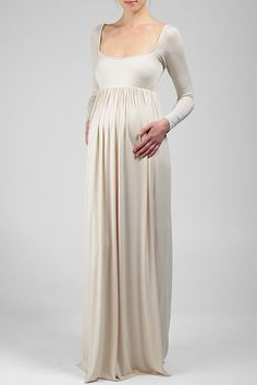 Rachel Pally Maxi Dress | THE ISA DRESS IS A GREAT DRESS FOR ANY OCCASION BEFORE, DURING, AND AFTER YOUR PREGNANCY. LONG SLEEVE, SQUARE NECKLINE, AND EMPIRE WAIST- CLASSIC AND ELEGANT. CELEBRITY MOMS LIKE THE KARDASHIAN SISTERS LOVE TO SLIP INTO THIS MAXI.