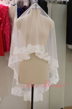 2013 New Style Veil lace edged for wedding day two by LaceBridal, $35.00
