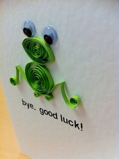 Good Luck Card  Hand Quilled Greeting Cards by happygraphics, £4.50