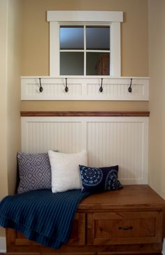 front entry bench and hooks