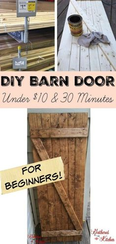 DIY Barn Doors are all the craze these days and boy do I LOVE them! I have ideas for barn doors all over my house! I started by making a x barn door for my family room wall with super high…More Diy Wood Projects, Woodworking Projects, Woodworking Plans, Woodworking Courses, Woodworking Quotes, Woodworking Inspiration, Pallet Barn, Pallet Door, Pallet Signs