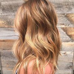 Blonde hair with warm tones