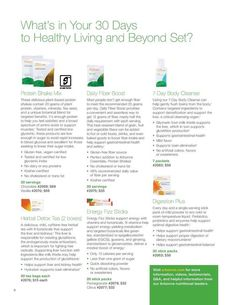 """This is what Arbonne's 30 days to healthy living consist of. Have you tried Arbonne yet?  """"Like"""" my FB page at Surshae Arbonne Independent Consultant. Consultant ID: 21565488"""