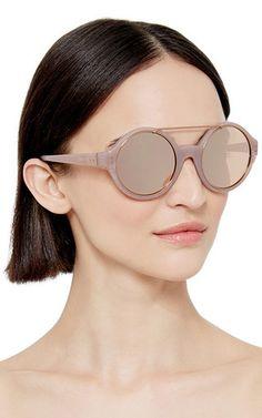 Dries Van Noten Circular Sunglasses by Linda Farrow