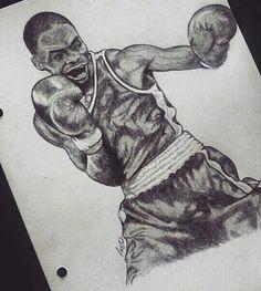 Elie Konki   French boxer #boxing #drawing #art ( by diiakass ) https://www.instagram.com/diiakass/
