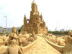 sand castles amazing sand creations, large castle